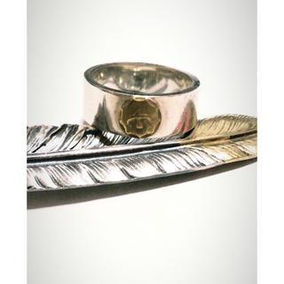 ゴローズ(goro's)のゴローズ 平打ちリング 金メタル 15号 正規品(リング(指輪))