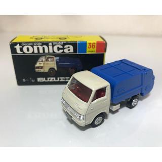タカラトミー(Takara Tomy)のトミカ 黒箱36 いすゞ エルフ 清掃車 2Dホイール 日本製(ミニカー)