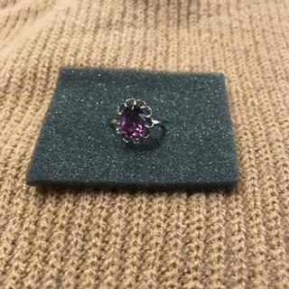 レディース リング 指輪 ピンクサファイア シルバー silver 刻印有り(リング(指輪))