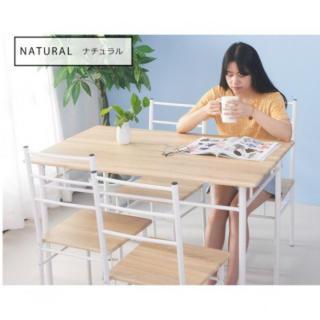 大人気商品♪激安ダイニングテーブル5点セット残 ナチュラル(ダイニングテーブル)