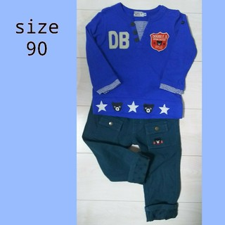 DOUBLE.B - ❌ 90 ミキハウス ダブルB 長袖Tシャツ パンツ