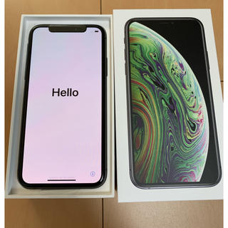 アイフォーン(iPhone)の新品 iPhone XS 64GB スペースグレー au SIMロック解除済み(スマートフォン本体)