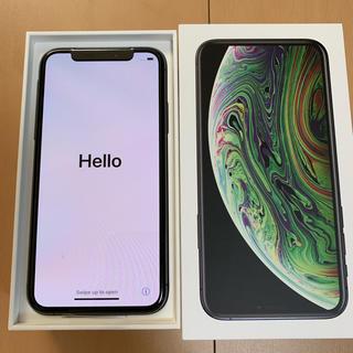 アイフォーン(iPhone)の新品 iPhone XS 256GB スペースグレー au SIMロック解除済み(スマートフォン本体)