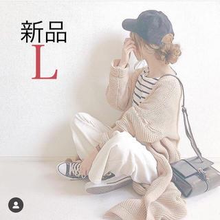 ジーユー(GU)の今季 新品タグ付き gu  コーデュロイワイドパンツ コーデュロイパンツ L(カジュアルパンツ)