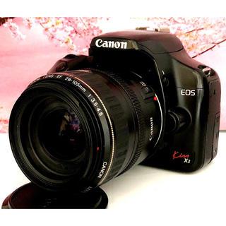 キヤノン(Canon)の簡単・軽量で初心者に愛される一眼レフ❤️Canon kiss x2 レンズキット(デジタル一眼)