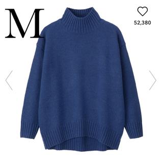 ジーユー(GU)の完売品☆GU 新品 オーバーサイズハイネックチュニック Mサイズ(ニット/セーター)
