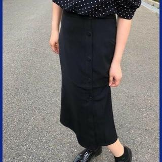 ジーユー(GU)のサイドボタンタイトスカート(ひざ丈スカート)