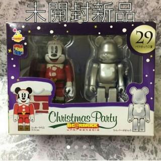 【ベアブリック】ディズニー クリスマス ベアブリック  ミッキーマウス シルバー