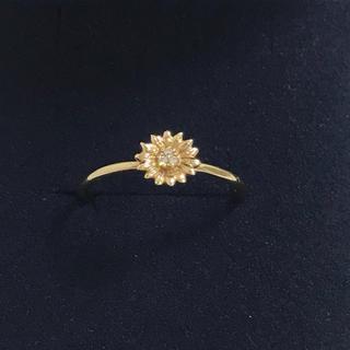 トッカ(TOCCA)のTOCCA ♡ K10YG ダイヤモンド フラワー リング(リング(指輪))