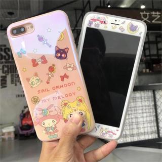 【新品】セーラームーンxマイメロ★ガラスフィルム付きiPhoneケース