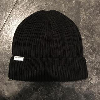 サタデーズサーフニューヨークシティー(SATURDAYS SURF NYC)の新品 黒 ニット帽 サタデーサーフニューヨーク(ニット帽/ビーニー)