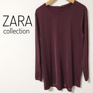 ザラ(ZARA)のZARA 新品 レディース シャツ 秋冬 紫色(Tシャツ(長袖/七分))