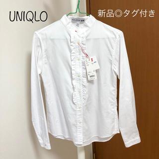 ユニクロ(UNIQLO)のユニクロ×イネス コットンツイル フリルシャツ  (シャツ/ブラウス(長袖/七分))