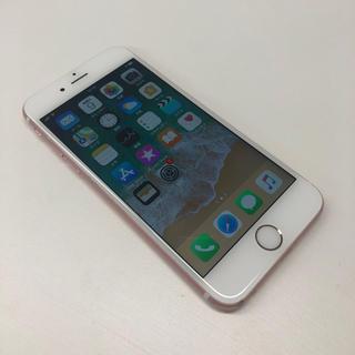 アップル(Apple)のau版 iPhone 6s 16GB ローズゴールド 白ロム Apple(スマートフォン本体)