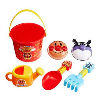 アンパンマン(アンパンマン)のお砂場遊びに夢中↑ アンパン カラフル お砂場 セット (知育玩具)