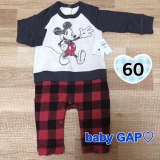 ベビーギャップ(babyGAP)のbaby GAP♡ミッキー セパレート風 ロンパース(ロンパース)