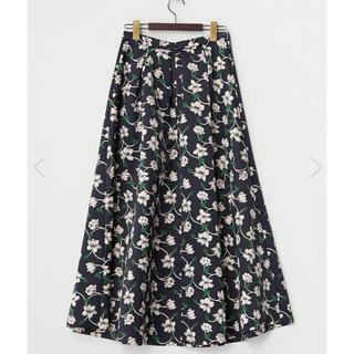 新品 イランイラン 花柄 ロングスカート