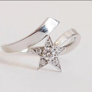 シャネル(CHANEL)のシャネル コメットスター ダイヤモンド リング ホワイトゴールド 星 スター(リング(指輪))