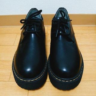 シマムラ(しまむら)の大きいサイズ 新品 黒 厚底3ホールシューズ 4L♡(ローファー/革靴)