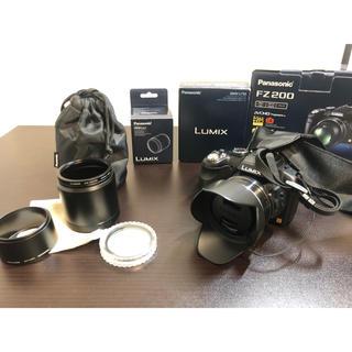 パナソニック(Panasonic)のPanasonic デジカメ fz200 テレコンバーター付(コンパクトデジタルカメラ)