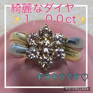♡大特価品♡ 綺麗なダイヤ✨1.00ct✨フラワーリング  k18 プラチナ(リング(指輪))