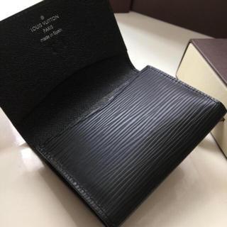 ルイヴィトン(LOUIS VUITTON)の正規品ルイヴィトンエピブラック名刺入れカード入れ(名刺入れ/定期入れ)