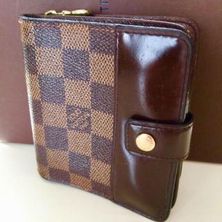 ルイヴィトン(LOUIS VUITTON)の正規品ルイヴィトンダミエコンパクトジップ折り財布(財布)