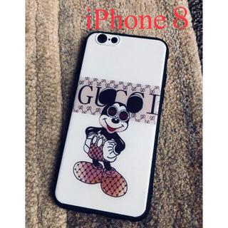 Disney - iPhone8ケース  ミッキー  グレー