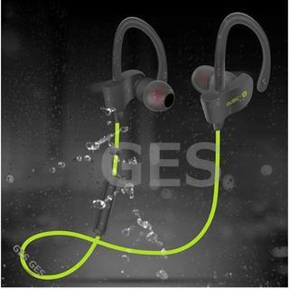 ★グリーン Bluetooth スポーツ ワイヤレス イヤホン(ヘッドフォン/イヤフォン)