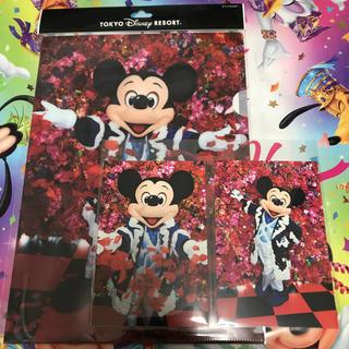 ディズニー(Disney)のクリアホルダー ポストカード2枚(クリアファイル)