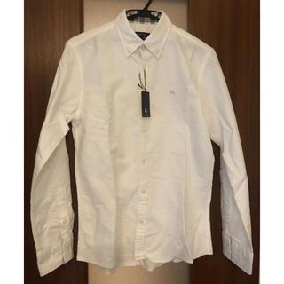 バーバリーブラックレーベル(BURBERRY BLACK LABEL)のバーバリーブラックレーベル 白シャツ 国内正規品 美品 サイズ2(シャツ)