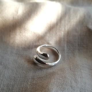 silver drop ring *(リング(指輪))
