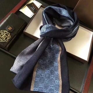 グッチ(Gucci)の新品 グッチマフラーGUGGI 大判ストール  スカーフ GG柄 メンズマフラー(マフラー)