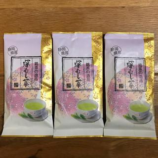 深蒸し茶 深むし茶 深むし煎茶 静岡茶 静岡県産 お茶っ葉 茶葉 お茶 3袋(茶)