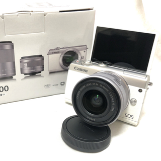 キヤノン(Canon)の新品★SDカード32GB★Canon EOS M100 レンズキット ホワイト(ミラーレス一眼)