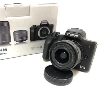 キヤノン(Canon)の新品★Canon EOS kiss M レンズキット ブラック(ミラーレス一眼)