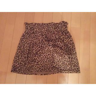 ヘザー(heather)のレオパードスカート(ミニスカート)