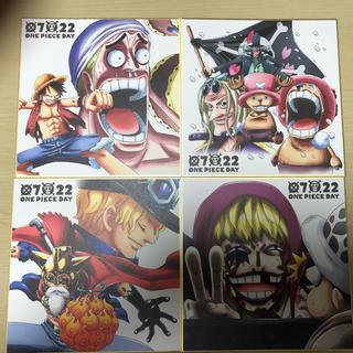 ワンピース 1番くじ G賞名場面色紙4枚セット(コミック用品)