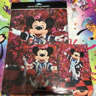 ディズニー(Disney)のクリアホルダー ポストカード(クリアファイル)