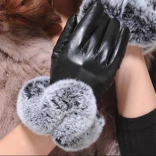 ザラ(ZARA)の海外インポートリアルファー付き手袋(手袋)