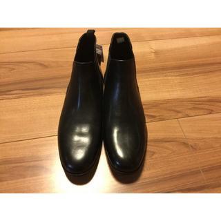 ザラ(ZARA)のZARAザラ サイドゴアブーツビジネスブーツアンクルブーツ ブラックサイズ40 (ドレス/ビジネス)