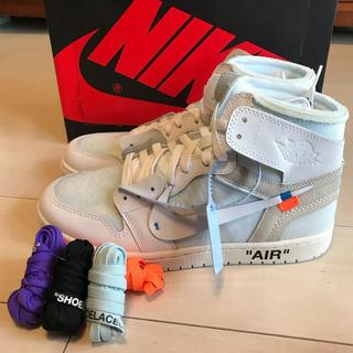 ナイキ(NIKE)の 限定25CM AIR JORDAN 1 x OFF-WHITE NRG(スニーカー)