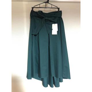 しまむら - [新品未使用]グリーンのフレアスカート