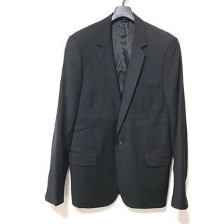 ディオールオム(DIOR HOMME)の美品 DIOR HOMME ディオールオム ウール1Bセットアップスーツ50黒(セットアップ)