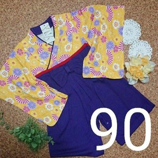 袴ロンパース 女の子 7-90