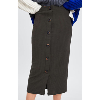 ZARA - ZARA ザラ リブ編み スカート Sサイズ