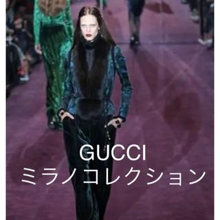 グッチ(Gucci)のGUCCIファー付きジャケット(毛皮/ファーコート)