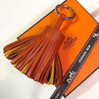 エルメス(Hermes)の✨超レア✨布ケース付✨エルメス カルメン  レインボー キーホルダー 新品未使用(キーホルダー)