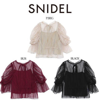 snidel - SNIDEL ドットチュールブラウス