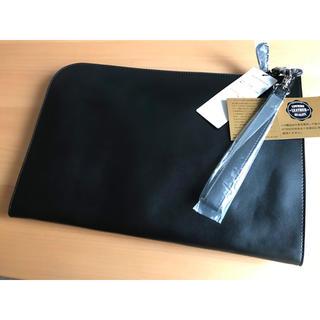 アトリエサブ(ATELIER SAB)の【新品未使用】牛革 クラッチバッグ  黒 ADMIX(セカンドバッグ/クラッチバッグ)